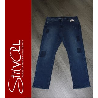 FRAPP - JEANS Hose  - destroyd Look dark blue - Stretch - NEU -  XXL