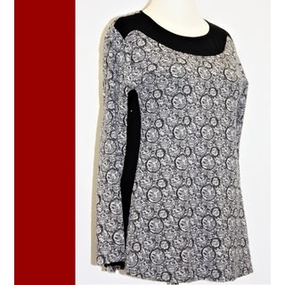 XXL KJ BRAND  Shirt Tunika schwarz bunt A-Linie NEU