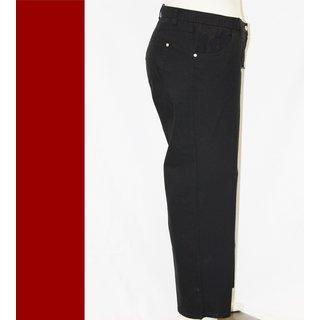Kj Brand Jeans Hose Babsie schwarz weiter Oberschenkel große Grössen XXL