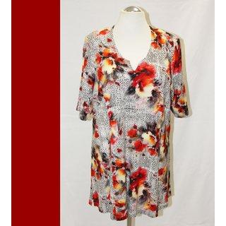 XXL Shirt Tunika -Kapuze Jersey A-Linie Mona Lisa NEU